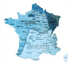 Map of Occupied France